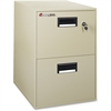 "Sentry Safe Vertical Fire File Cabinet - 21"" x 27.8"" x 18.3"" - 2 x Drawer(s) - Legal, Letter - Label Holder, Recessed Handle, Key Lock, Water Resistant, Fire Resistant - Putty"