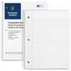 "Business Source Notebook - 80 Sheets - Printed - Wire Bound - 16 lb Basis Weight - Letter 8.50"" x 11"" - White Paper - 1Each"