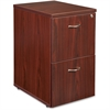 "Lorell Ascent Pedestal - 15.8"" x 21.9"" x 27"" - 2 - Material: Particleboard - Finish: Laminate, Mahogany"