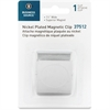 "Business Source Magnetic Paper Clip - 1.5"" Length - 1 Pack - Chrome - Metal"