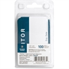 "Business Source Visitor Label - ""Visitor"" - 2.25"" Width x 3.50"" Length - Rectangle - Blue, White - 100 / Pack"