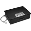 "Sentry Safe Portable Security Safe - 0.49 ft³ - Electronic Lock - Internal Size 3.60"" x 16.40"" x 11.30"" - Overall Size 5.8"" x 17.5"" x 13.6"" - Black - Steel"
