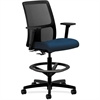 "HON Ignition Mesh Back Task Stool - Fabric Mariner Seat - 5-star Base - Mariner - 19"" Seat Width x 17"" Seat Depth - 27.5"" Width x 27.5"" Depth x 53"" Height"