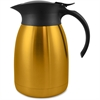 Genuine Joe Classic Vacuum Carafe - 1.3 quart (1.2 L) - Vacuum - Stainless Steel, Gold