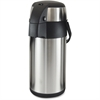 Genuine Joe High Capacity Vacuum Airpot - 3.2 quart (3 L) - Vacuum - Stainless Steel
