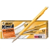 BIC Student's Choice Mechanical Pencil - #2 Lead Degree (Hardness) - 0.9 mm Lead Diameter - Black Lead - Yellow Wood Barrel - 1 Dozen