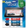 Ledge Dry-Erase Marker - Broad, Fine Point Type - Chisel Point Style - Assorted, Black, Blue