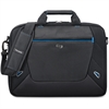 "Solo Tech Carrying Case (Briefcase) for 16"" Notebook - Black, Blue - Polyester - Trolley Strap, Handle, Shoulder Strap - 12.8"" Height x 16"" Width x 2.5"" Depth"