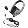 Califone Washable Headphone W/ USB, In-line Volume Via Ergoguys - Stereo - USB - Wired - 50 Ohm - 20 Hz - 20 kHz - Over-the-head - Binaural - Circumaural - 6 ft Cable - Noise Reduction Microphone - Ye