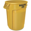 Rubbermaid Commercial Brute Round Container - 32 gal Capacity - Round - Heavy Duty, Handle, Tear Resistant, Damage Resistant, Durable, UV Coated, Fade Resistant, Warp Resistant, Crack Resistant, Crush