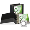 """Samsill Earth's Choice Bio-based Round Ring View Binder - 5"""" Binder Capacity - Letter - 8 1/2"""" x 11"""" Sheet Size - Round Ring Fastener - 2 Internal Pocket(s) - Polypropylene - Black - Recycled - 1 Each"""