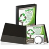 "Samsill Earth's Choice Bio-based Round Ring View Binder - 1/2"" Binder Capacity - Letter - 8 1/2"" x 11"" Sheet Size - Round Ring Fastener - 2 Internal Pocket(s) - Polypropylene, Chipboard - Black - Recy"
