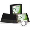 "Samsill Earth's Choice Bio-based Round Ring View Binder - 2"" Binder Capacity - Letter - 8 1/2"" x 11"" Sheet Size - Round Ring Fastener - 2 Internal Pocket(s) - Polypropylene, Chipboard - Black - Recycl"