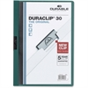 "DURACLIP Report Cover - Letter - 8 1/2"" x 11"" Sheet Size - 30 Sheet Capacity - Vinyl - Dark Green - 1 Each"