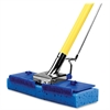 "Miller's Creek Butterfly Mop - 9.88"" x 1.13"" Sponge Head - 47"" x 0.88"" Handle - Scrubber Strip, Squeeze-action - 2 / Carton - Blue"