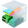 "Deflect-o Cube Organizer - 6"" Height x 6"" Width x 6"" Depth - Desktop - Clear - Plastic - 1Each"