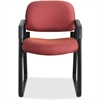 "Safco Cava Urth Sled Base Guest Chair - Polyester Burgundy, Plywood Seat - Polyester Burgundy, Plywood Back - Steel Black Frame - Sled, Four-legged Base - Nylon - 20"" Seat Width x 18"" Seat Depth - 22."