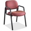 "Safco Cava Urth Series Straight Leg Guest Chair - Polyester Burgundy Seat - Polyester Burgundy Back - Black Frame - Four-legged Base - Nylon - 20"" Seat Width x 18"" Seat Depth - 22.5"" Width x 24"" Depth"