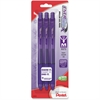 EnerGel X Retractable Gel Pens - Medium Point Type - 0.7 mm Point Size - Needle Point Style - Refillable - Violet Gel-based Ink - Violet Barrel - 3 / Pack