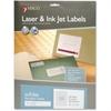 "MACO Laser / Ink Jet File Folder Labels - Permanent Adhesive - 0.67"" Width x 3.44"" Length - 30 / Sheet - Rectangle - Laser, Inkjet - White - 1 / Each"