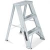 "2-step Step Stool - 2 Step - 200 lb Load Capacity - 16.1"" x 26"" - Aluminum"