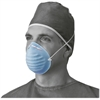 Medline Surgical Cone-Style Face Mask - Blue - 50 / Box