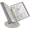 "Tarifold Orbital Reference Desk Display - 10 Panels - 2 Sheet(s)/Panel - 7"" Height x 10"" Width x 16"" Depth - Polypropylene - 1 Each - Gray Putty"