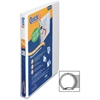 "Stride QuickFit Round Ring Unique Design Binder - 5/8"" Binder Capacity - Letter - 8 1/2"" x 11"" Sheet Size - 100 Sheet Capacity - Round Ring Fastener - 2 Internal Pocket(s) - Vinyl - White - Recycled -"