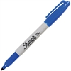 Sharpie Permanent Fine Point Marker - Fine Point Type - Blue Alcohol Based Ink - 1 Each