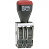 "Consolidated Stamp Cosco 4-band Date Stamp - Message/Date Stamp - ""A.M., P.M., ANS'D, PAID, ENT'D, REC'D"" - 4 BandsSteel Frame - 1 Each"