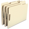 "Smead Heavy-Duty Manila Fastener Folders - Letter - 8 1/2"" x 11"" Sheet Size - 2 Fastener(s) - 1/3 Tab Cut - Assorted Position Tab Location - 18 pt. Folder Thickness - Manila - Recycled - 50 / Box"