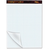 "TOPS Docket Gold Planner Pad - 80 Sheets - Printed - Both Side Ruling Surface - Quad Ruled - 4 Horizontal Squares - 4 Vertical Squares 8.50"" x 11.75"" - White Paper - Black Cover - 1Pad"