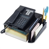 "OIC Recycled Telephone Stand - 3 Compartment(s) - 5.3"" Height x 12.3"" Width x 10.5"" Depth - Recycled - Black - Rubber, Plastic - 1Each"