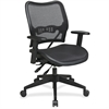"Office Star Deluxe Air Grid Seat/Back Chair - Black - 20"" Seat Width x 20"" Seat Depth - 26.5"" Width x 28.3"" Depth x 42.5"" Height"