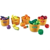 Learning Resources Farmer's Market Color Sorting Set - Skill Learning: Color Identification, Sorting, Nutrition, Food, Gardening