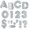 "Trend Silver Metallic 4-Inch Casual Uppercase - Learning Theme/Subject - 10 Numbers, 11 Punctuation Marks, 50 Uppercase Letters - Easy to Use, Fade Resistant, Reusable, Durable - 4"" Height - Metallic"