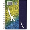 "Roaring Spring Maxim 7""x5"" 1-Subject Notebook - 80 Sheets - Printed - Twin Wirebound - 15 lb Basis Weight 5"" x 7"" - White Paper - Blue, Dark Green, Maroon, Black Cover - Pressguard Cover - Recycled -"
