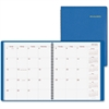 "At-A-Glance Wirebound Monthly Appointment Book - Julian - Monthly - 1.2 Year - January 2017 till January 2018 - 1 Month Double Page Layout - 9"" x 11"" - Wire Bound - Blue - Simulated Leather - Appointm"