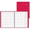 "At-A-Glance Wirebound Monthly Appointment Book - Julian - Monthly - 1.2 Year - January 2017 till January 2018 - 1 Month Double Page Layout - 9"" x 11"" - Wire Bound - Simulated Leather - Red - Appointme"