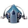 3M 7500 Series Half Facepiece Respirators - Large Size - Heat, Moisture, Debris, Gases, Vapor, Particulate Protection - Silicone - Aqua - 1 Each