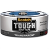 "Scotch Transparent Duct Tape - 1.88"" Width x 60 ft Length - Durable, Easy Tear - 1 Roll - Clear"