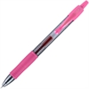 G2 G2-7 Retractable Gel Roller Pen - Fine Point Type - 0.5 mm Point Size - Refillable - Pink Gel-based Ink - Translucent Barrel - 1 Dozen