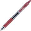 G2 G2-7 Retractable Gel Roller Pen - Fine Point Type - 0.7 mm Point Size - Refillable - Burgundy Gel-based Ink - Translucent Barrel - 1 Dozen