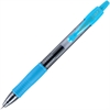 G2 G2-7 Retractable Gel Roller Pen - Fine Point Type - 0.7 mm Point Size - Refillable - Turquoise Gel-based Ink - Translucent Barrel - 1 Dozen