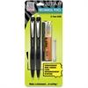 Zebra Pen Z Tap Mechanical Pencil - HB, #2 Lead Degree (Hardness) - 0.7 mm Lead Diameter - Refillable - Black Lead - Smoke, Black Barrel - 2 / Each