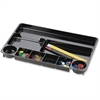 "OIC 9-comprtmt Recycled Drawer Tray - 9 Compartment(s) - 1.1"" Height x 14"" Width x 9"" Depth - Recycled - Black - Plastic - 1Each"