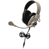 Califone 3066Avt Deluxe Stereo Headset Mic 3.5Mm 3Ft Via Ergoguys - Stereo - Black - Mini-phone - Wired - 300 Ohm - 20 Hz - 20 kHz - Nickel Plated - Over-the-head - Binaural - Ear-cup - 3 ft Cable - E