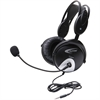 Califone 4100Avt Headset W/ Mic 3Ft To Go Plug Via Ergoguys - Stereo - Mini-phone - Wired - 30 Hz - 20 kHz - Over-the-head - Binaural - Ear-cup - 3 ft Cable - Electret Microphone