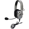 Califone Washable Headphone W/Vol Control, 3.5mm Plug Via Ergoguys - Stereo - Mini-phone - Wired - 50 Ohm - 20 Hz - 20 kHz - Over-the-head - Binaural - Ear-cup - Electret Microphone - Yes