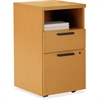 "HON 10500 Series Laminate Desk Ensembles - 15.8"" x 18"" x 28"" - 2 x Box Drawer(s), File Drawer(s) - 1 Shelve(s) - Square Edge - Material: Wood - Finish: Harvest, Laminate"